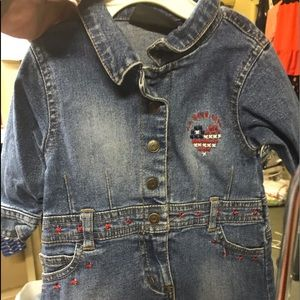 Polo jean dress for baby